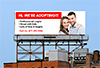 couple advertising for adoption